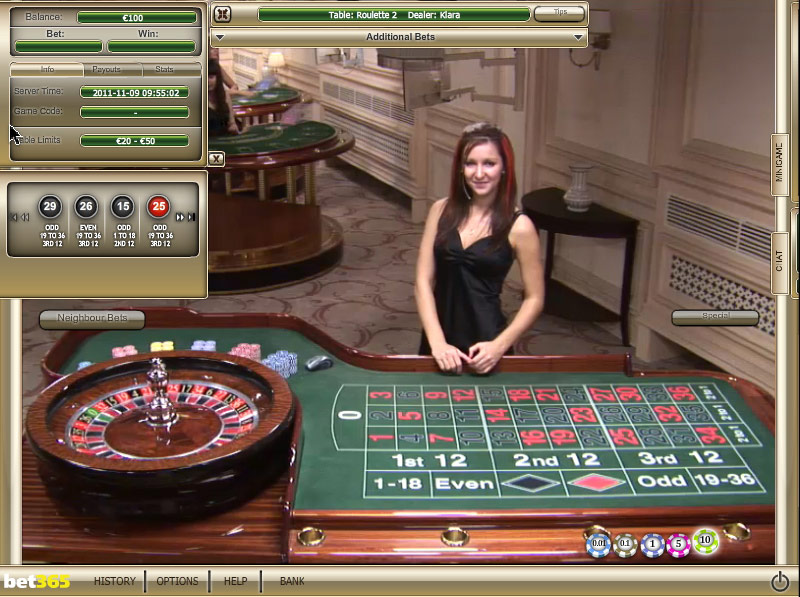 Casino roulette online betting